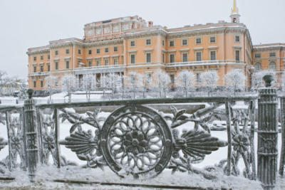 Михайловский замок зимой - Saint Michael's Castle in winter