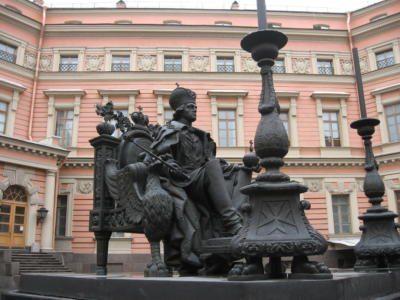 Памятник Павлу I во дворе Михайловского замка Paul I Monument