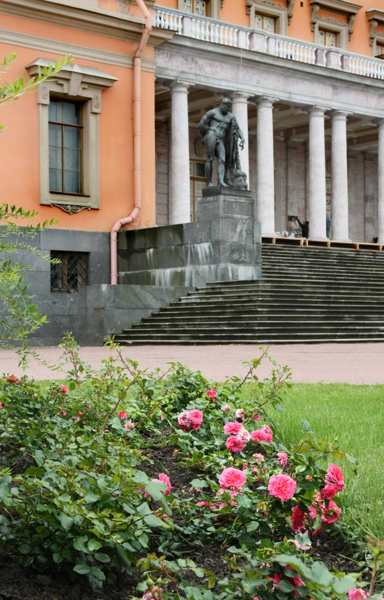 Розы у Михайловского замка - подарок замка Амбуаз