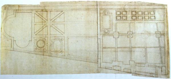 Проект Первого и Второго Летних садов, выполненный Петром I в 1717 году.
