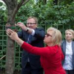Акция Древо жизни 2018 в Летнем саду. Дерево посадила компания ЛУКОИЛ-Северо-Западнефтепродукт