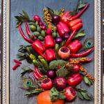 Летний сад, Красный сад, картина из овощей, очень хорошо